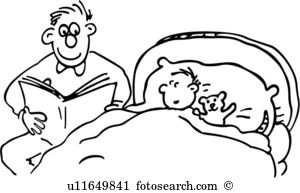 Bedtime clipart bedtime book. Story black and white