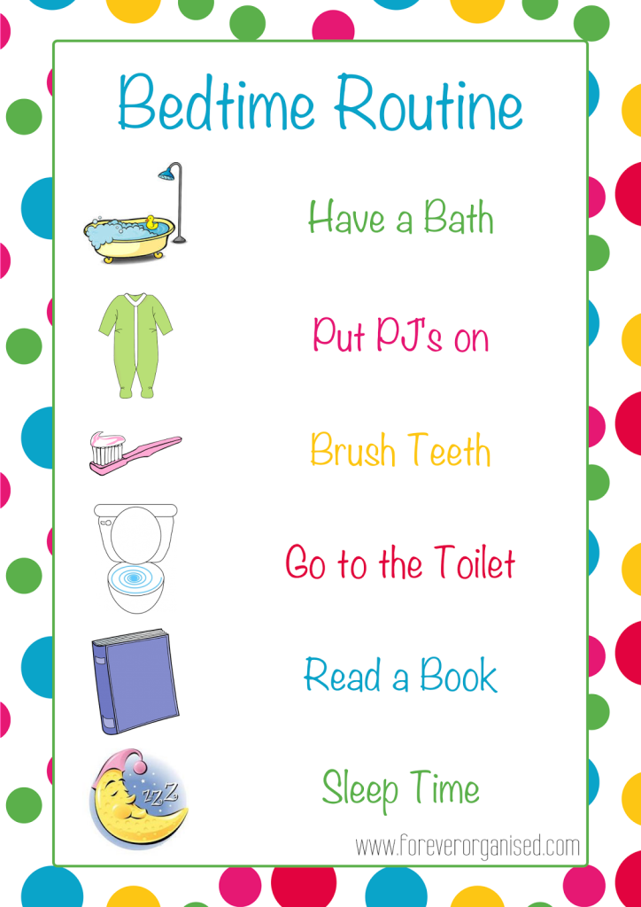 Morning and routines for. Bedtime clipart bedtime routine