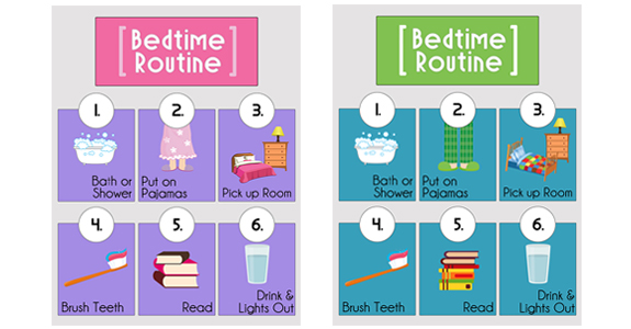 Bedtime clipart bedtime routine. Printables over the big
