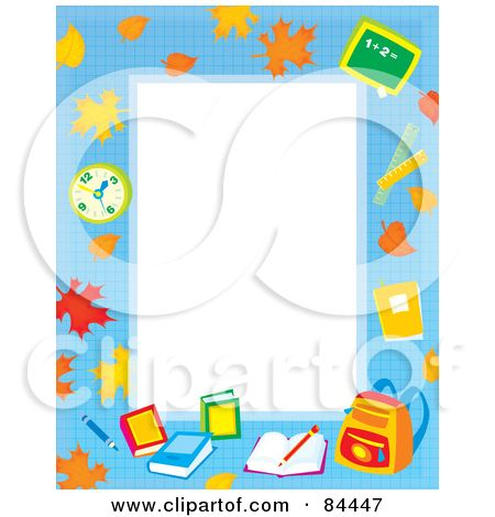 Education boarders free rf. Bedtime clipart border