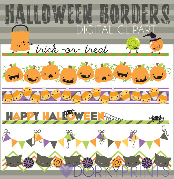 Bedtime clipart border. Halloween borders personal and