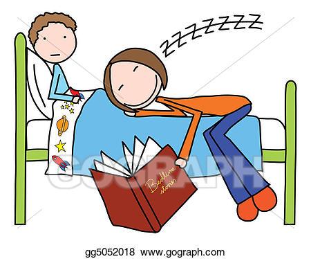 Boy clipart bedtime. Stock illustration stories gg