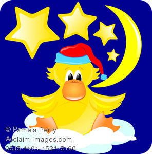 Image of a baby. Bedtime clipart clip art