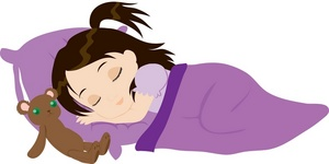 collection of sleeping. Bedtime clipart little girl
