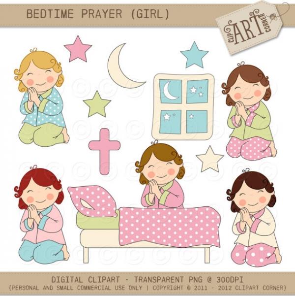 Bedtime clipart little girl. Interesting prayer graphics clip