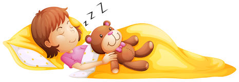 Free sleeping cliparts download. Bedtime clipart little girl