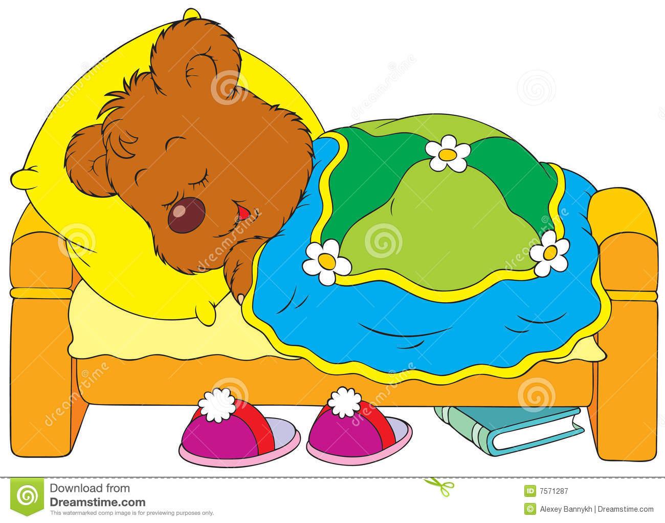 Child sleeping panda free. Bed clipart children's