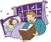 Clipart bed story. Bedtime jpg