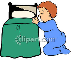 A saying his prayers. Bedtime clipart toddler bedtime