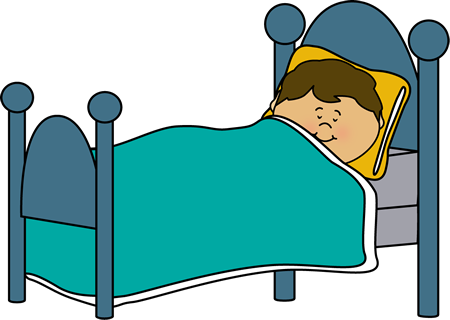 Free healthy sleeping cliparts. Bed clipart child bed