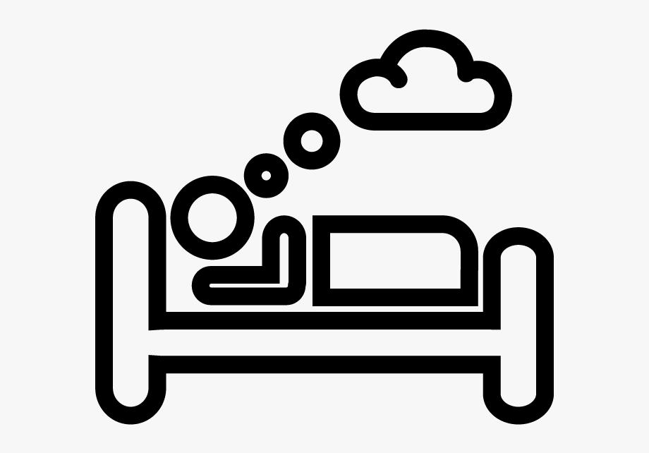 Sleep black and white. Sleeping clipart transparent