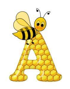 Alfabeto de sobre letras. Bee clipart abeja