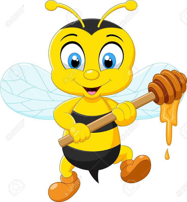 Bees clipart abeja.  best miel abejas
