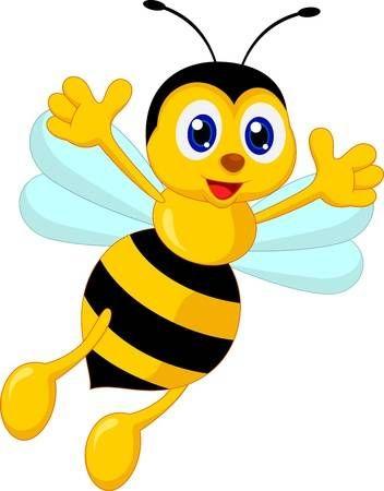 Bee clipart abeja. Stock photo animals bees
