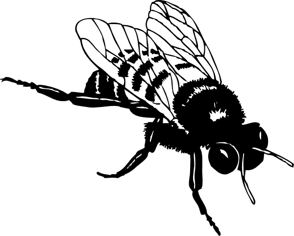 Bee clipart abstract. Bumble clip art free