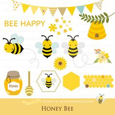 Bee clipart abstract.  bees honey clip
