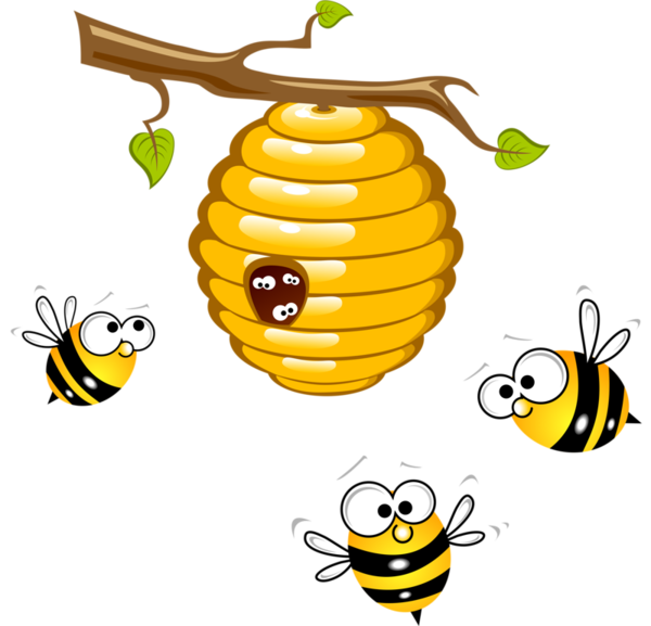 Beehive honey clip art. Number 4 clipart bee