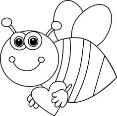 Bee clipart black and white. C b cd d