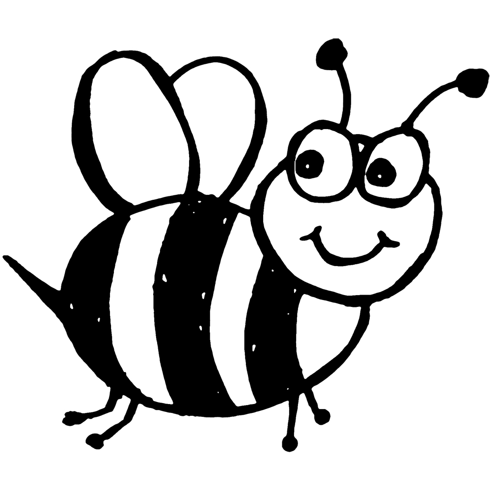 bee bot. Bees clipart black and white