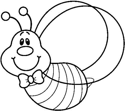 Imagini pentru albinute pinterest. Bee clipart black and white