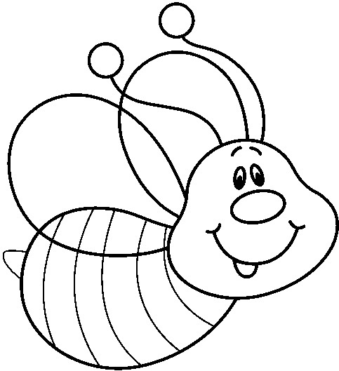 Bee clipart black and white. Letters