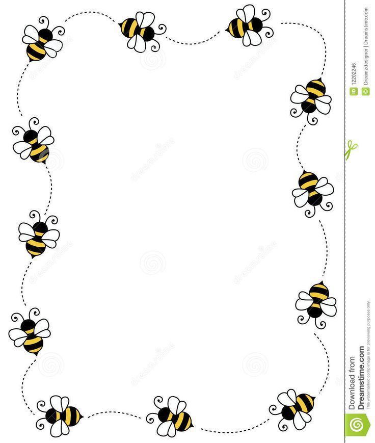 bee clipart boarder #30371368