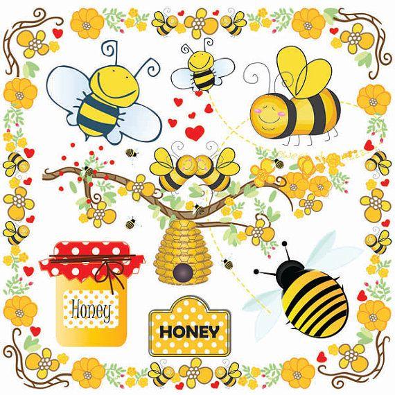 Bumblebee clipart summer. Bees clip art bumble
