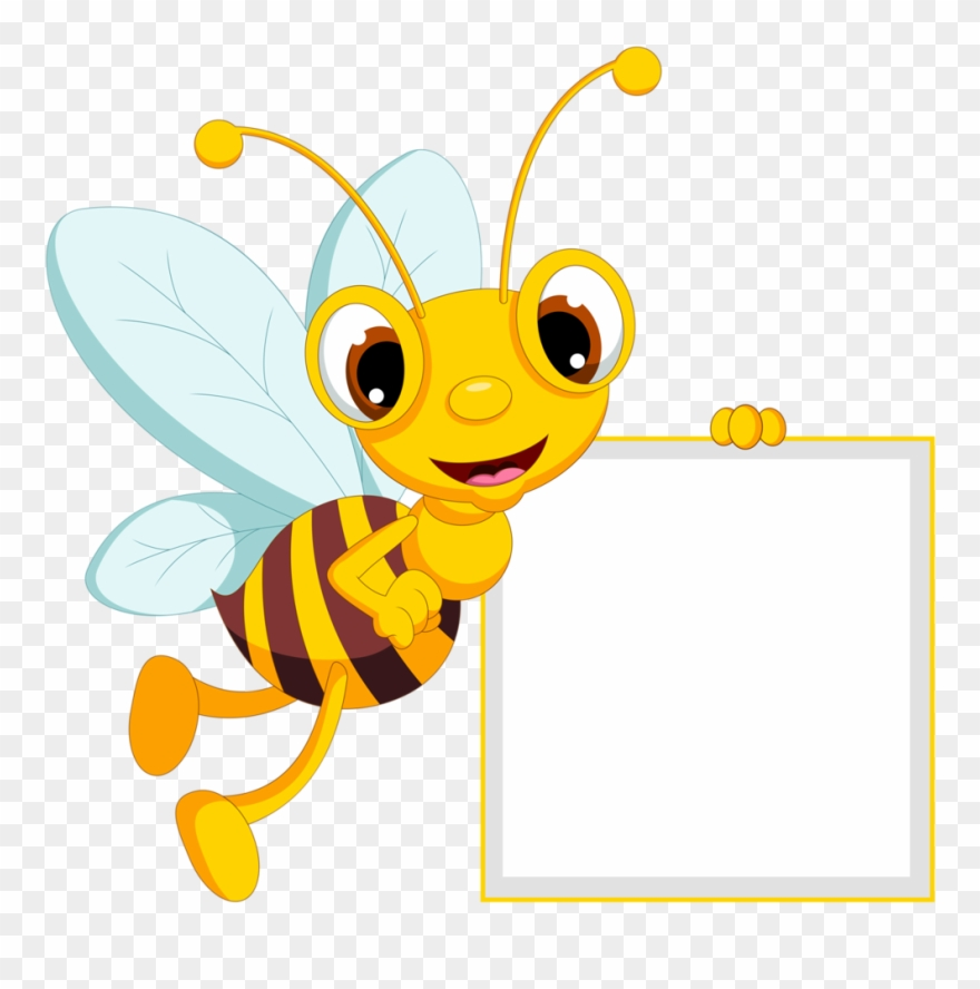 Banner transparent download bumble. Bees clipart borders