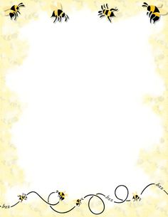 Bee clipart boarder. A page border with