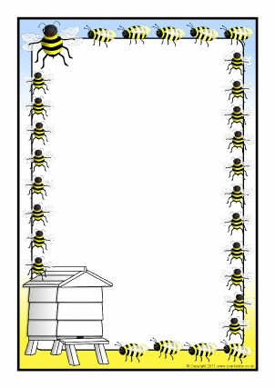 Themed classroom printables sparklebox. Bee clipart borders
