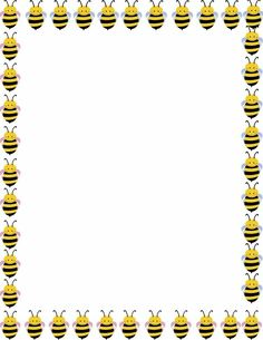 Bees clipart boarder. Bee border clip art