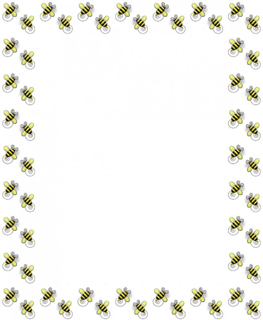 Best photos of bee. Bees clipart boarder