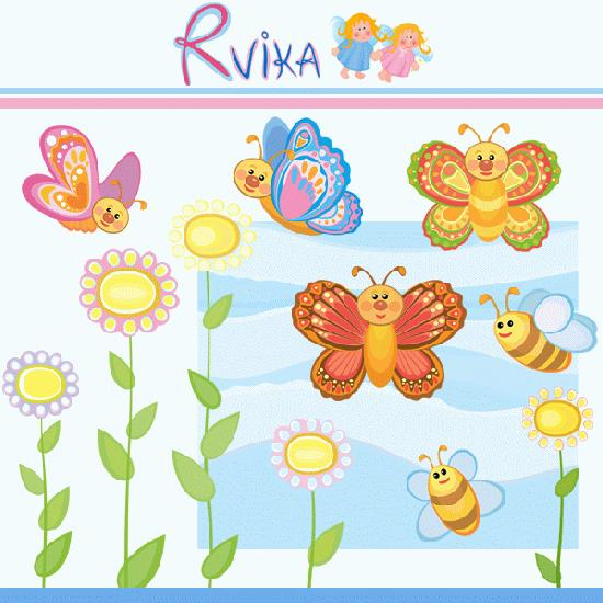 Mygrafico butterflies bees . Bee clipart butterfly