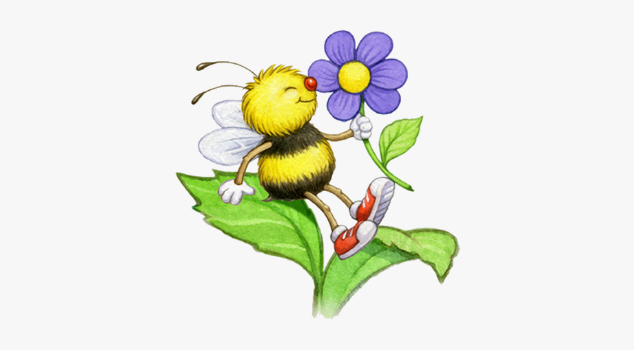 Bumble flower and . Clipart butterfly bee