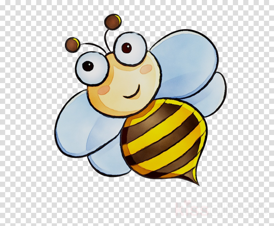 Clipart butterfly bee. Illustration cartoon