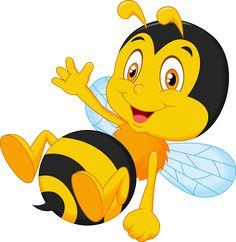 Bee clipart cartoon. Funny valentine love heart