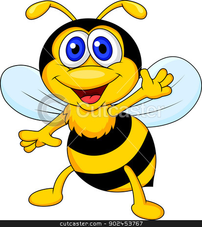 Cute bee no background. Bees clipart halloween