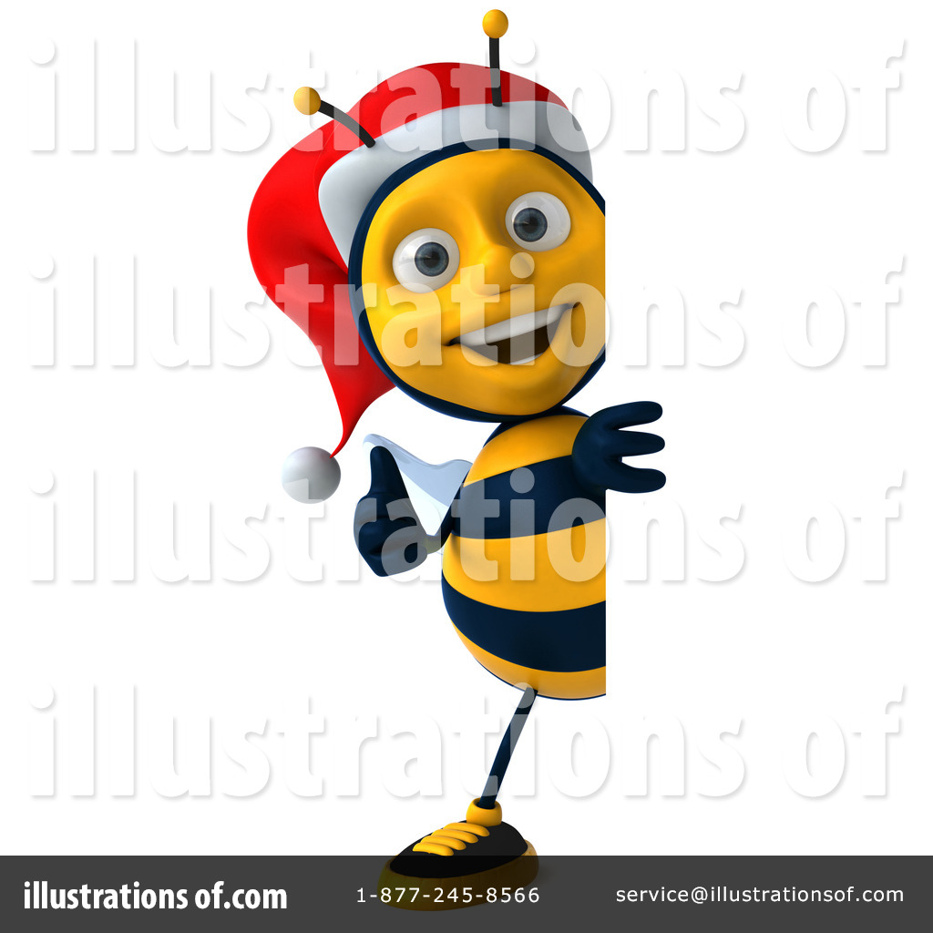 Illustration by julos royaltyfree. Bee clipart christmas