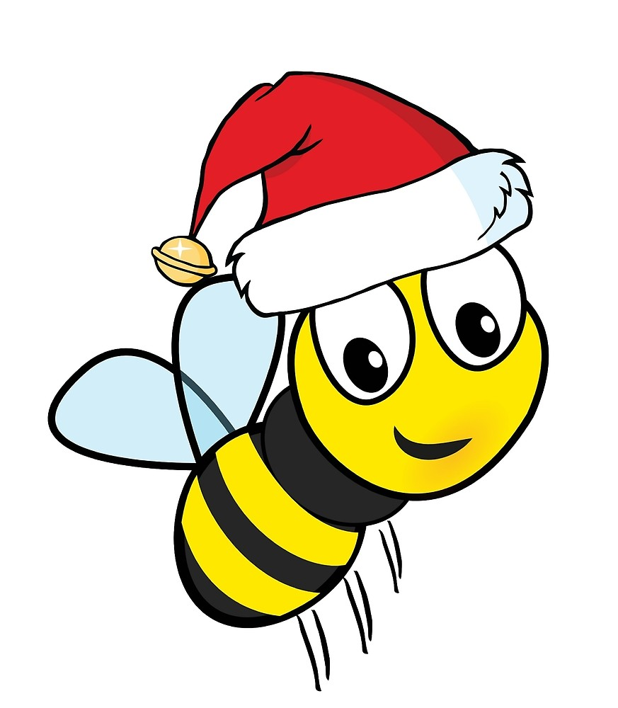 Bees clipart christmas. Honey bee drawing clip