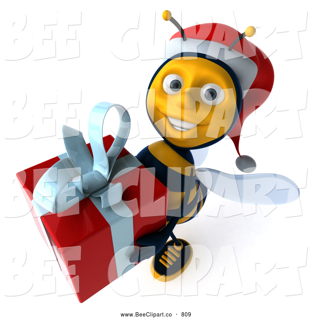 Bee clipart christmas. Royalty free stock designs