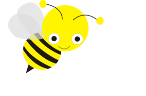 Bee clipart clear background. Pencil and in color