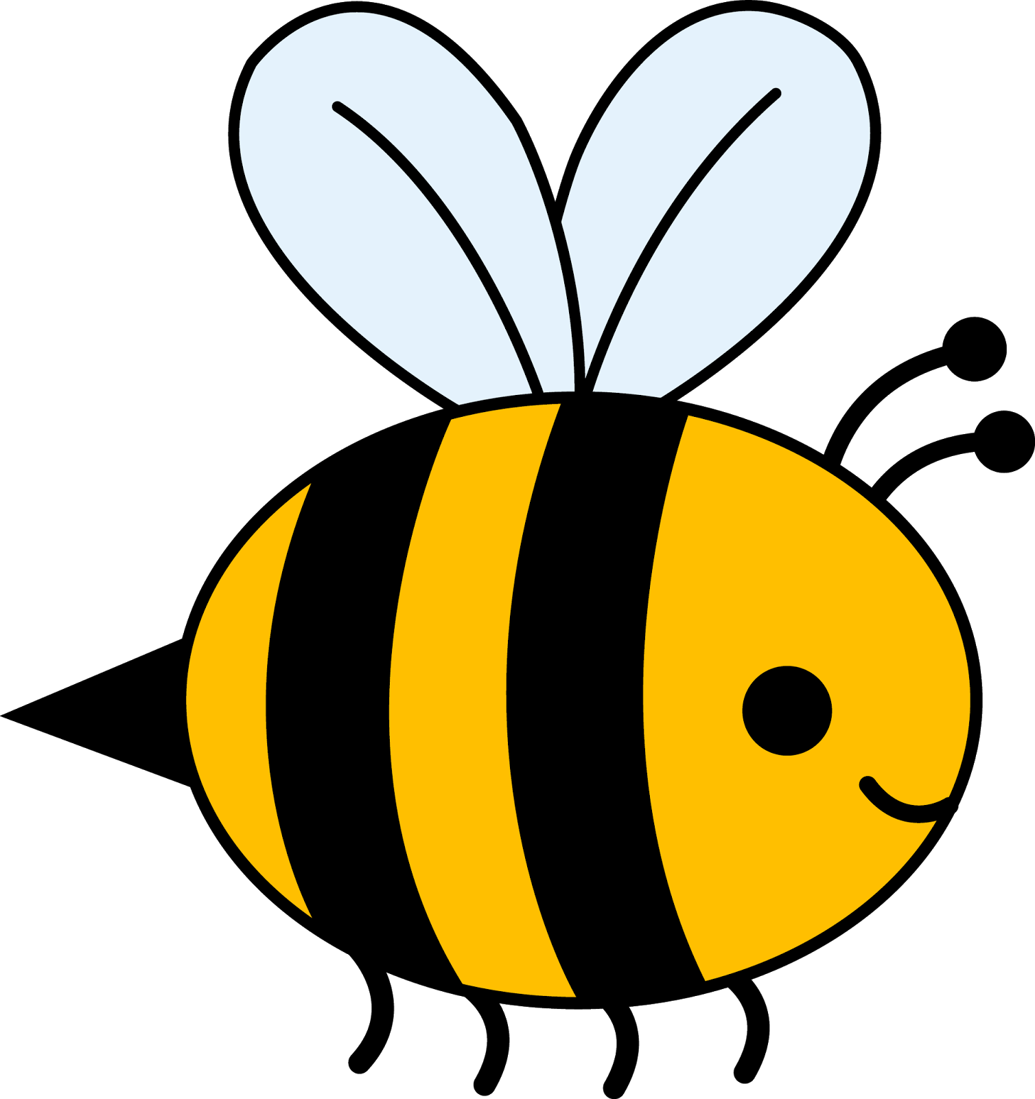 collection of bee. Clipart flower insect