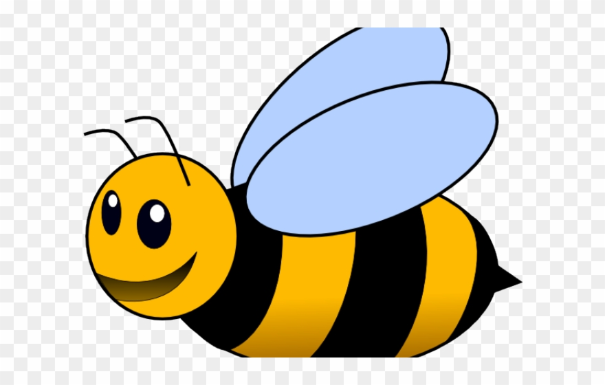 Bees transparent spelling from. Clipart bee clear background