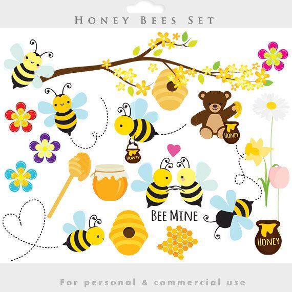 Bee clipart easter. Bees honey clip art