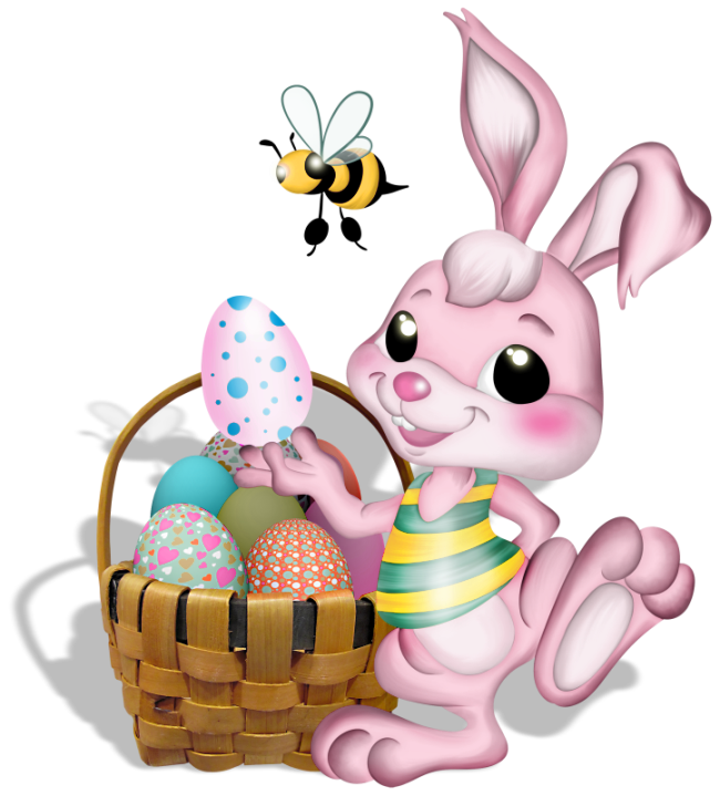 Png bunny pink with. Scrapbook clipart easter
