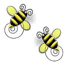 Famaura kitbeehappyelements png digital. Bee clipart easter