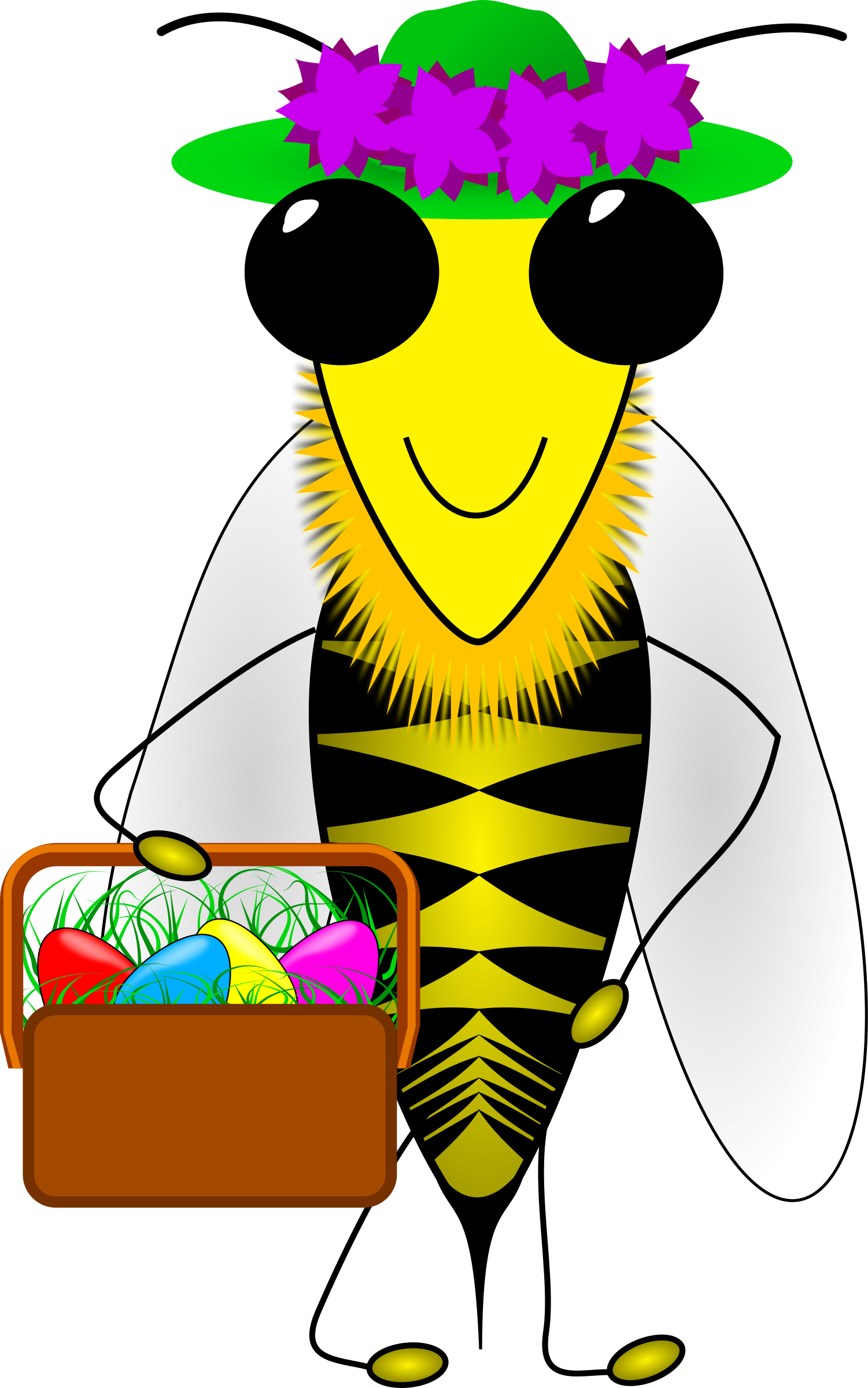 Bee big image png. Bees clipart easter