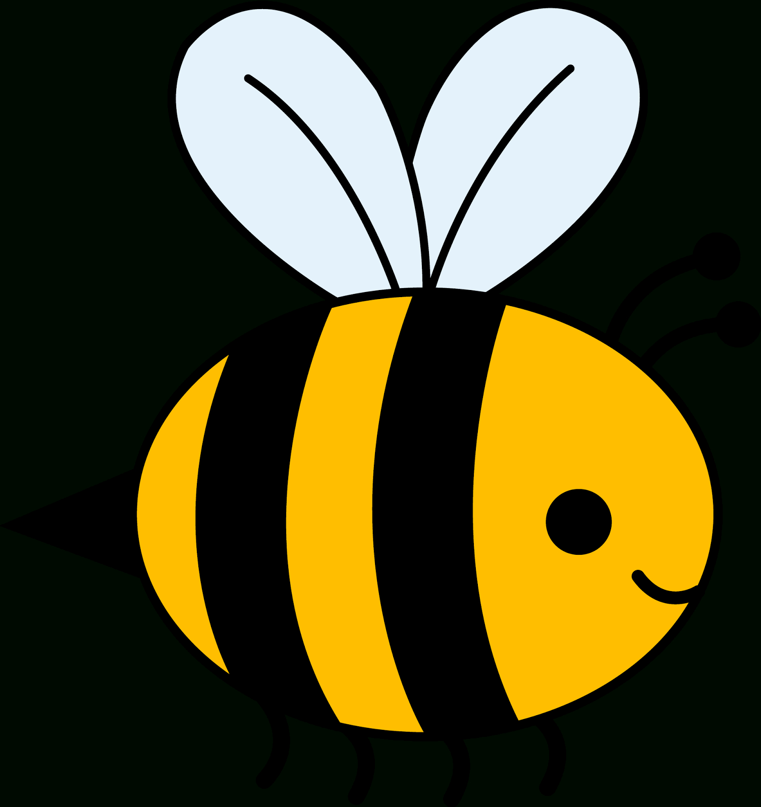 Bees clipart sketch. Simple bee drawing at