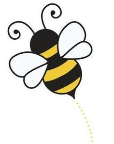 Bumble bee drawing free. Bees clipart simple