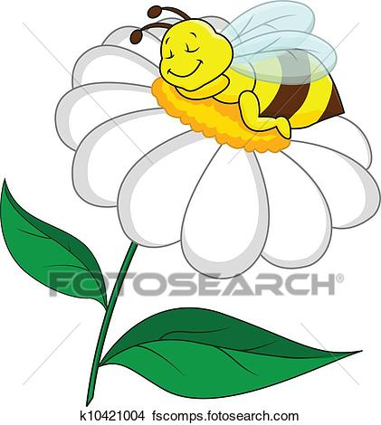Bee clipart flower. And clipartuse of sleeping